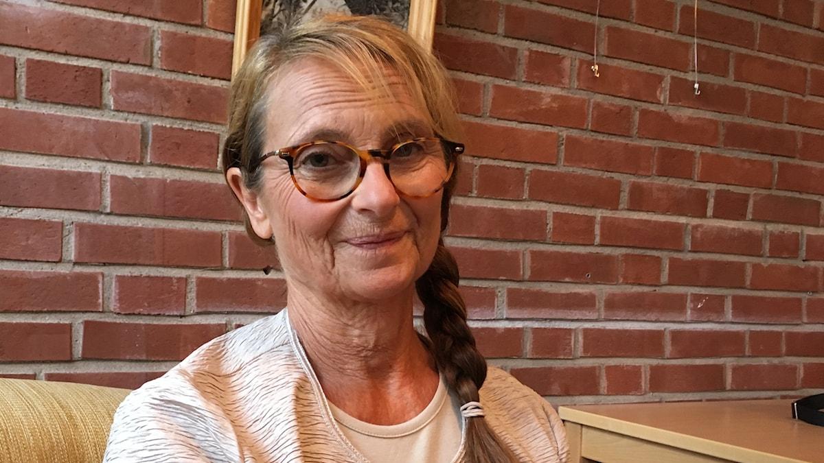 Suzanne Reuter under inspelningen av Lyrro.