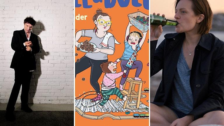 """Thåström, Charlotta Lannebos bok """"Olle och Bolle är bröder"""" och tv-serien """"Tof of the lake - China girl"""" med Elisabeth Moss."""
