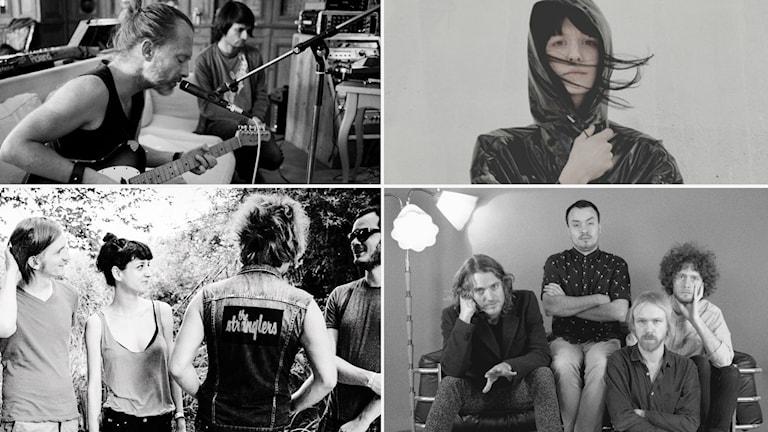Fyra av de artister och band som stått för årets bästa album.