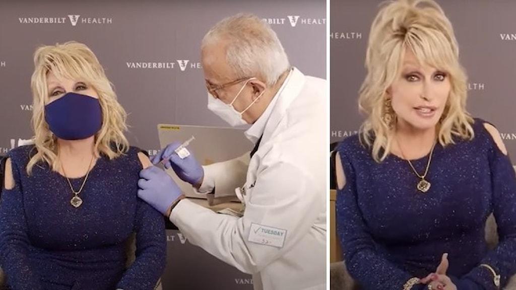 Dolly Parton vaccineras mot corona.