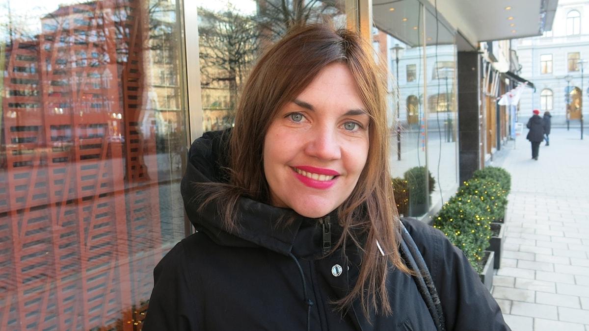Katja Wik, aktuell med filmen Exfrun. Foto: Björn Jansson/Sveriges Radio.