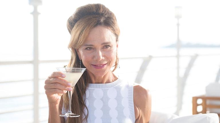 """Lena Ohlin i thrillersåpan """"Riviera"""""""