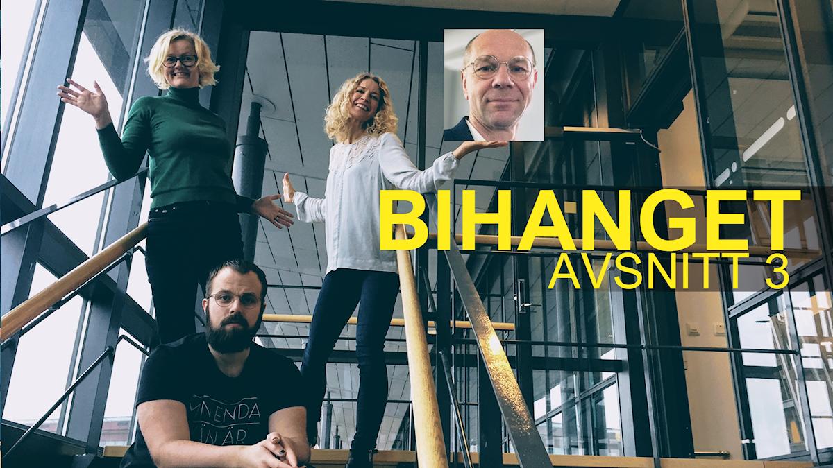 Bild på de som pratar i podcasten Bihanget