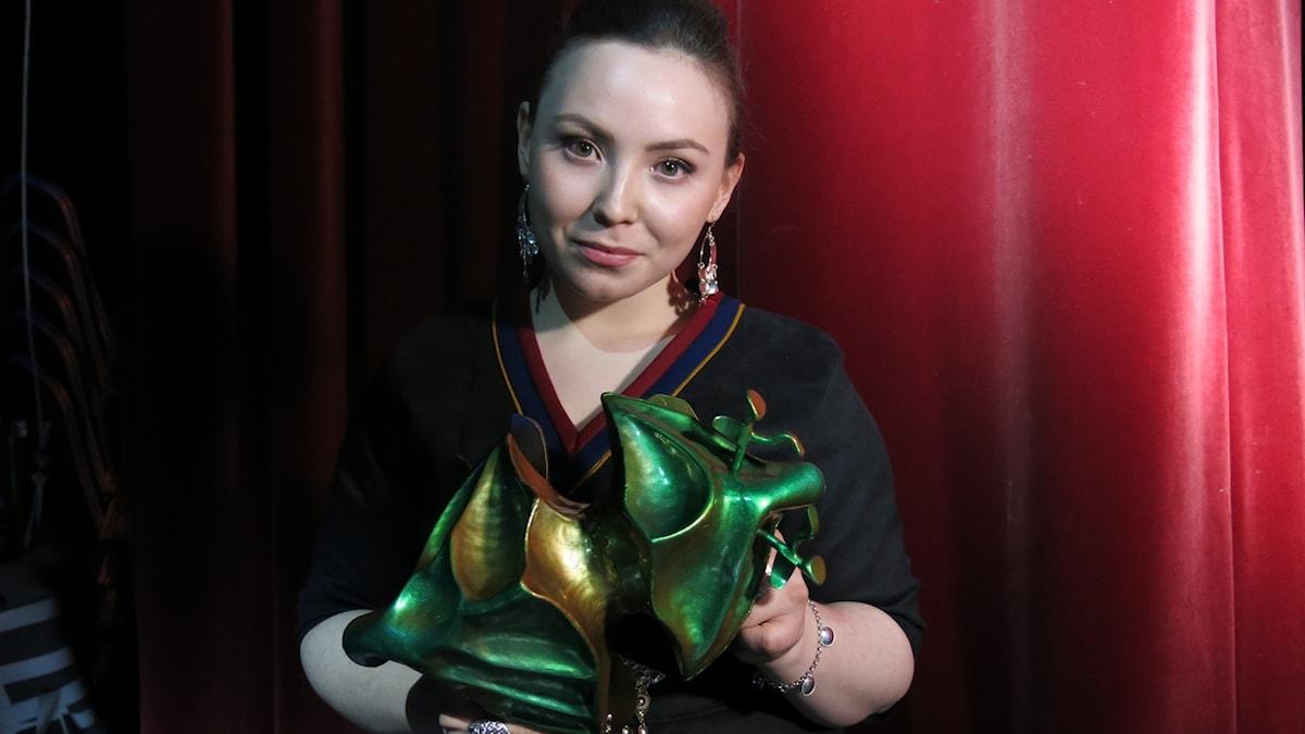 Lene Cecilia Sparrok fick en Guldbagge för bästa kvinnliga huvudroll i filmen Sameblod. Foto: Björn Jansson/Sveriges Radio.