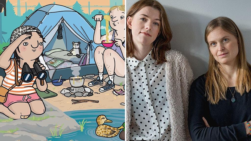 """""""Hemma hela sommaren"""" är illustrerad av Ellen Ekman och skriven av Elin Johansson."""