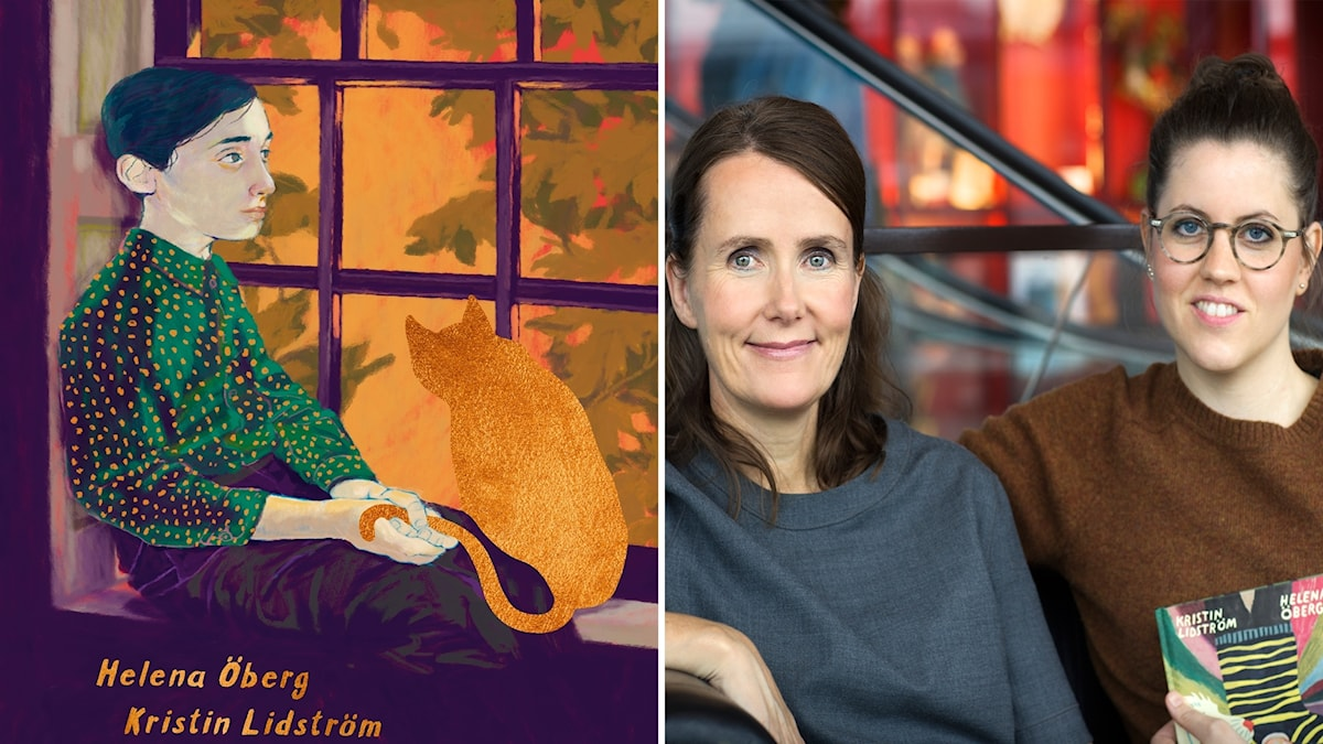 "Helena Öberg och Kristin Lidström har gjort bildromanen ""Kattvinden""."