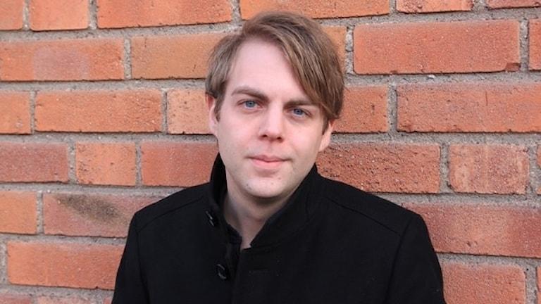 Författaren och kriminologen Christoffer Carlsson. Foto Sveriges Radio
