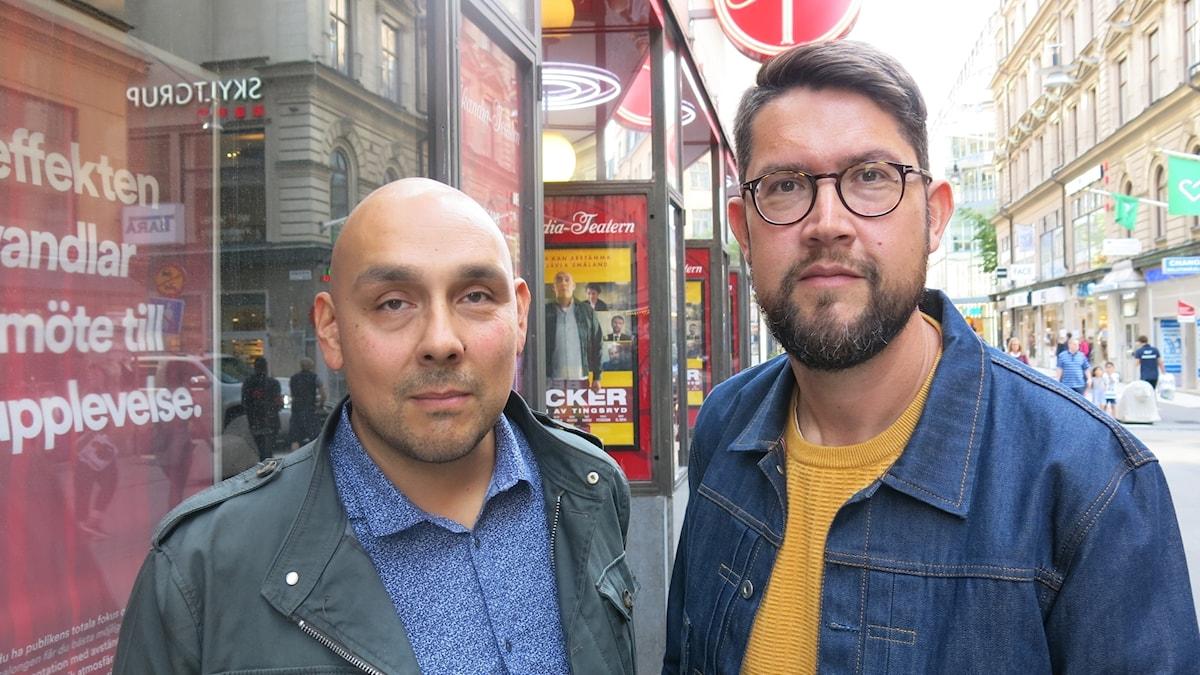 Henrik Lilliér spelar Becker och Martin Larsson har skrivit och regisserat. Foto: Björn Jansson/Sveriges Radio.