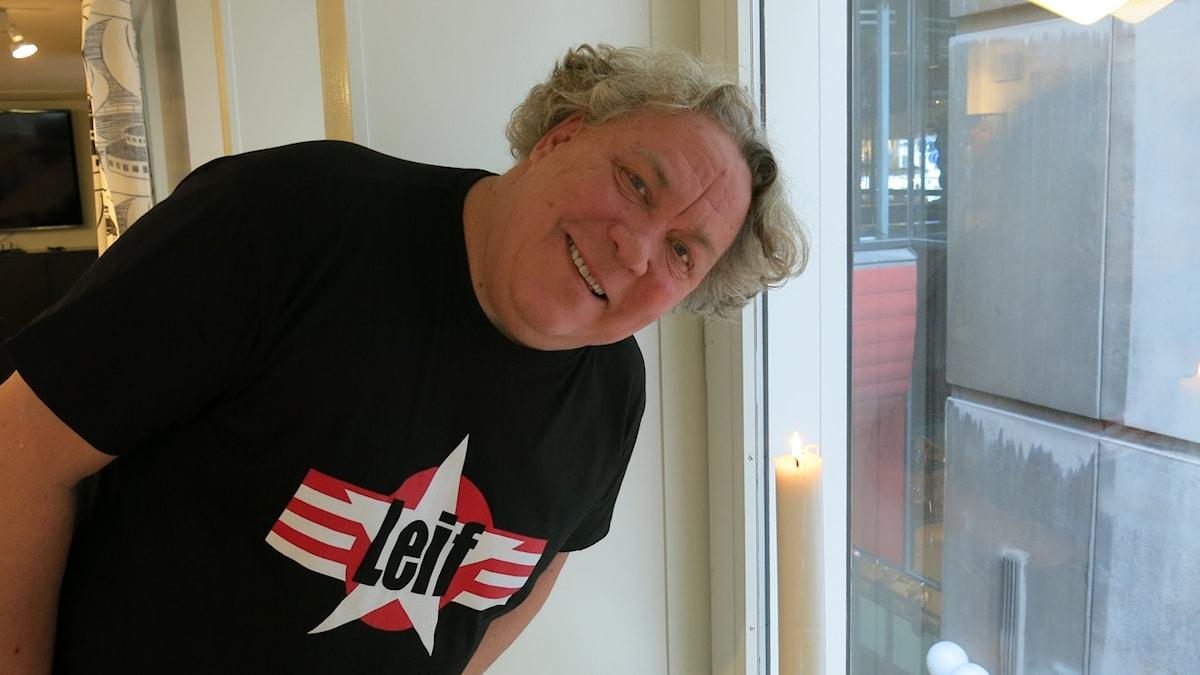 """Leif Andrée, aktuelle med pjäsen """"Leif"""". Foto: Björn Jansson/Sveriges Radio."""
