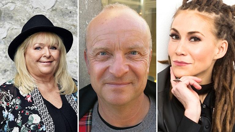 Kikki Danielsson, Jonas Gardell och  Mariette medverkar i Melodifestivalen 2018.