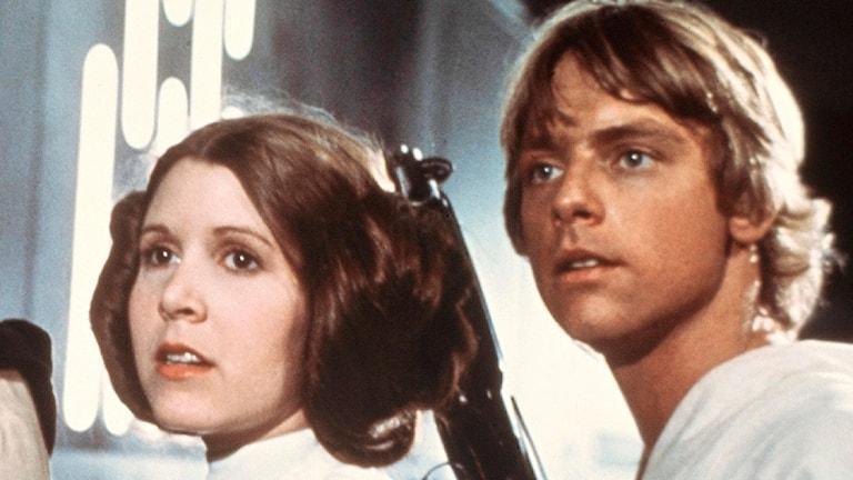 """Leia och Luke ur """"Star Wars""""-filmen."""