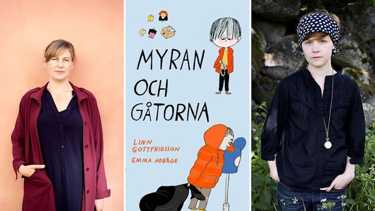 """Linn Gottfridsson och Emma Adbåge har skrivit och tecknat """"Myran och gåtorna""""."""