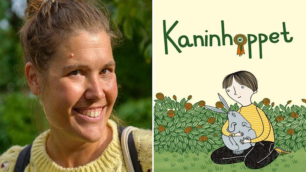 """""""Kaninhoppet"""" är skriven av Malin Eriksson med bilder av Mia Nilsson."""