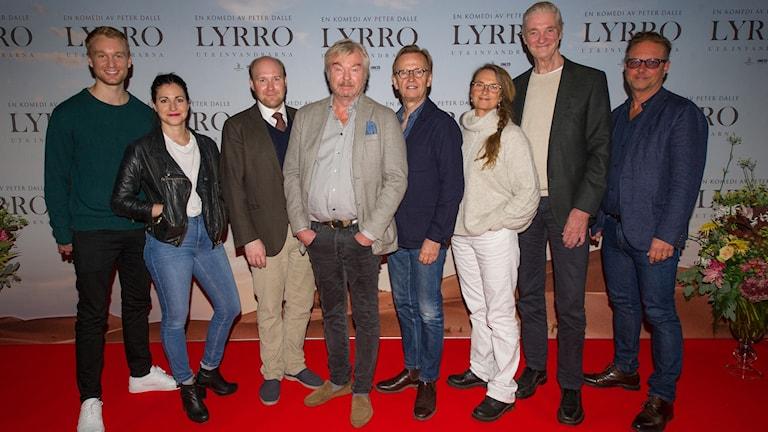 Lyrro-gänget samlat inför premiären. Foto: Ivan da Silva.