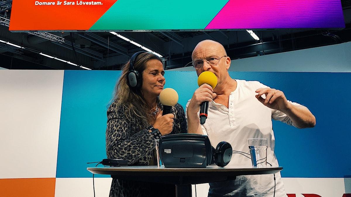 Katarina Hahr och Jonas Gardell på bokmässan