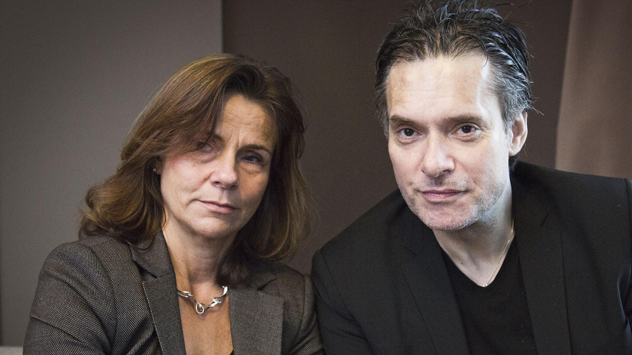 Katarina Hahr och Thorsten Flinck. Foto: Micke Grönberg / SR.