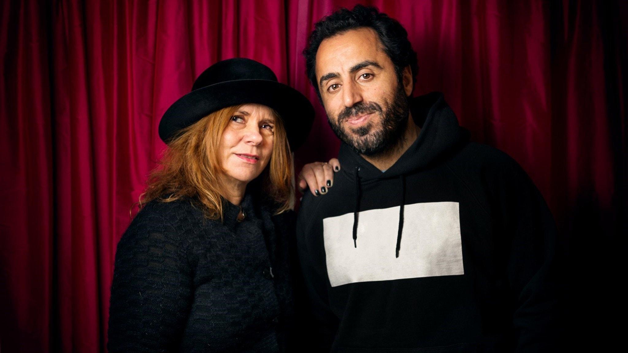 Katarina Hahr och Özz Nûjen. Foto: Alexander Donka/Sveriges Radio