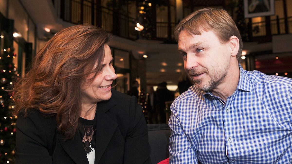 Katarina Hahr och Joakim Palme.