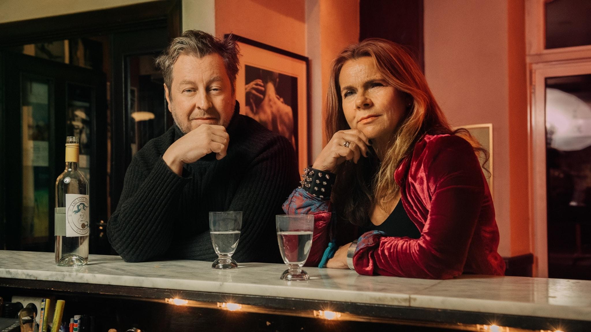 Mauro Scocco och Katarina Hahr.