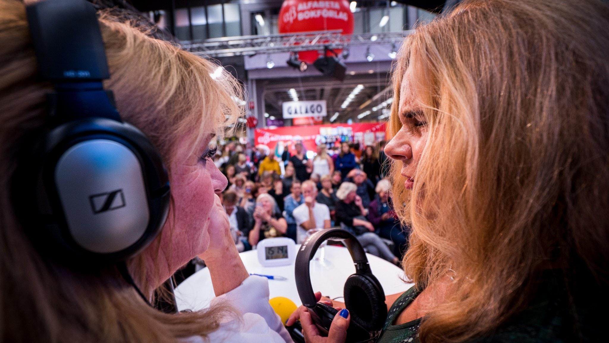 Katarina Hahr möter Malou von Sivers live på Bokmässan