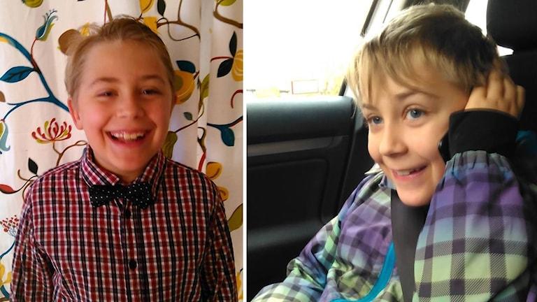Två bilder på Adrian Norrby. Till vänster leendes iklädd skjorta och fluga och till höger pratandes i telefon i bilen.