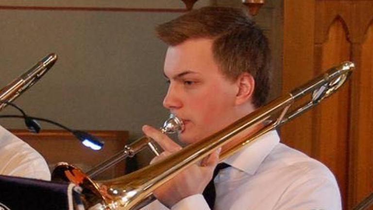 Axel Ekhem spelar trombon.