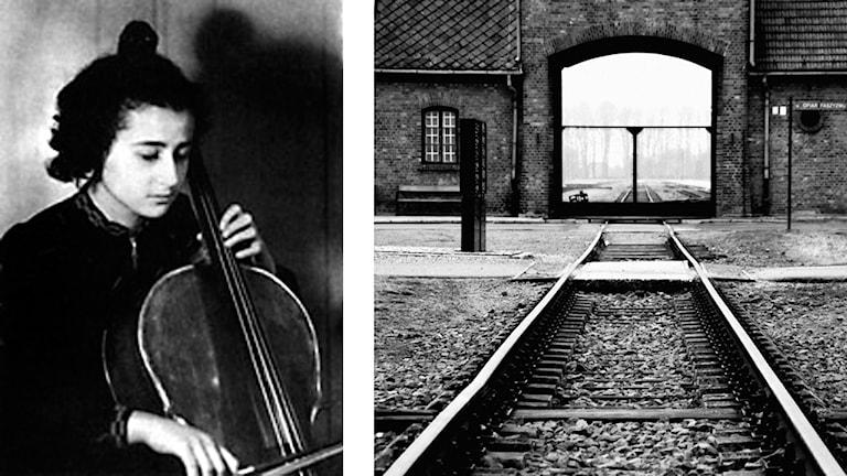 Anita Lasker-Wallfisch och porten till Birkenau.