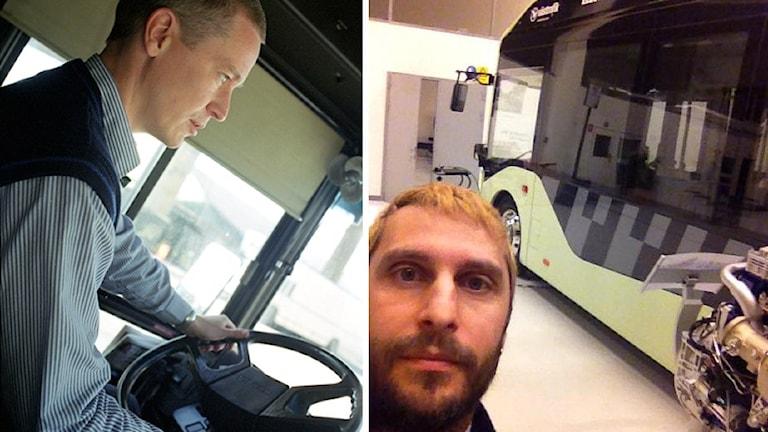 Bussförarna Robert Skoglund och Daniel Lundberg
