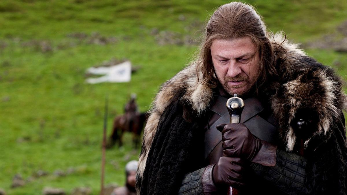 "Sean Bean i rollen som Lord Eddard ""Ned"" Stark i TV-serien Game of Thrones."