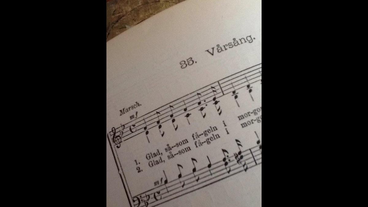 Notblad för Vårsång