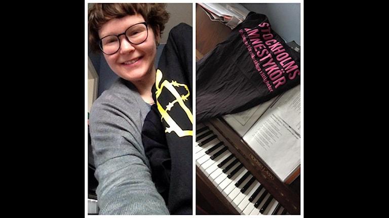 Eva-Maria Munck och ett piano.
