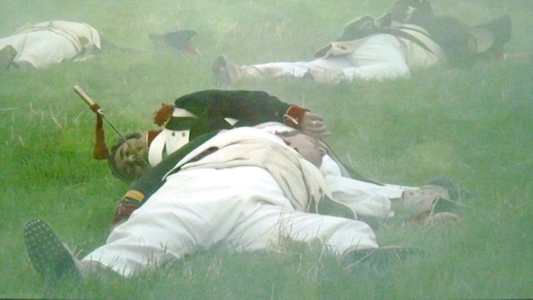 Döda soldater, krig, Napelons soldater, Waterloo, stridsfält