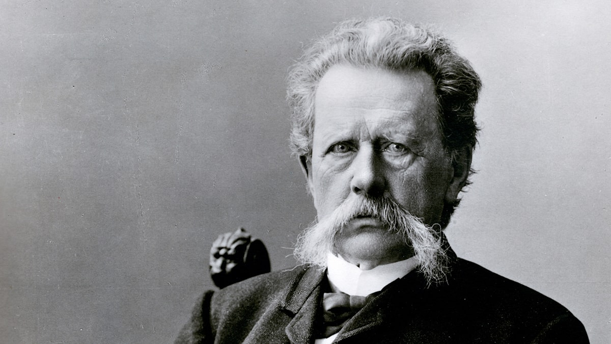 Porträtt på kompositören och mångsysslaren Gunnar Wennerberg.