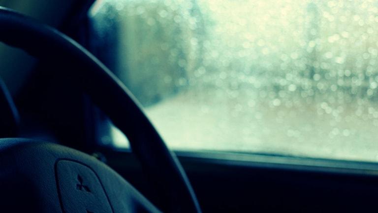 Regnig bilruta