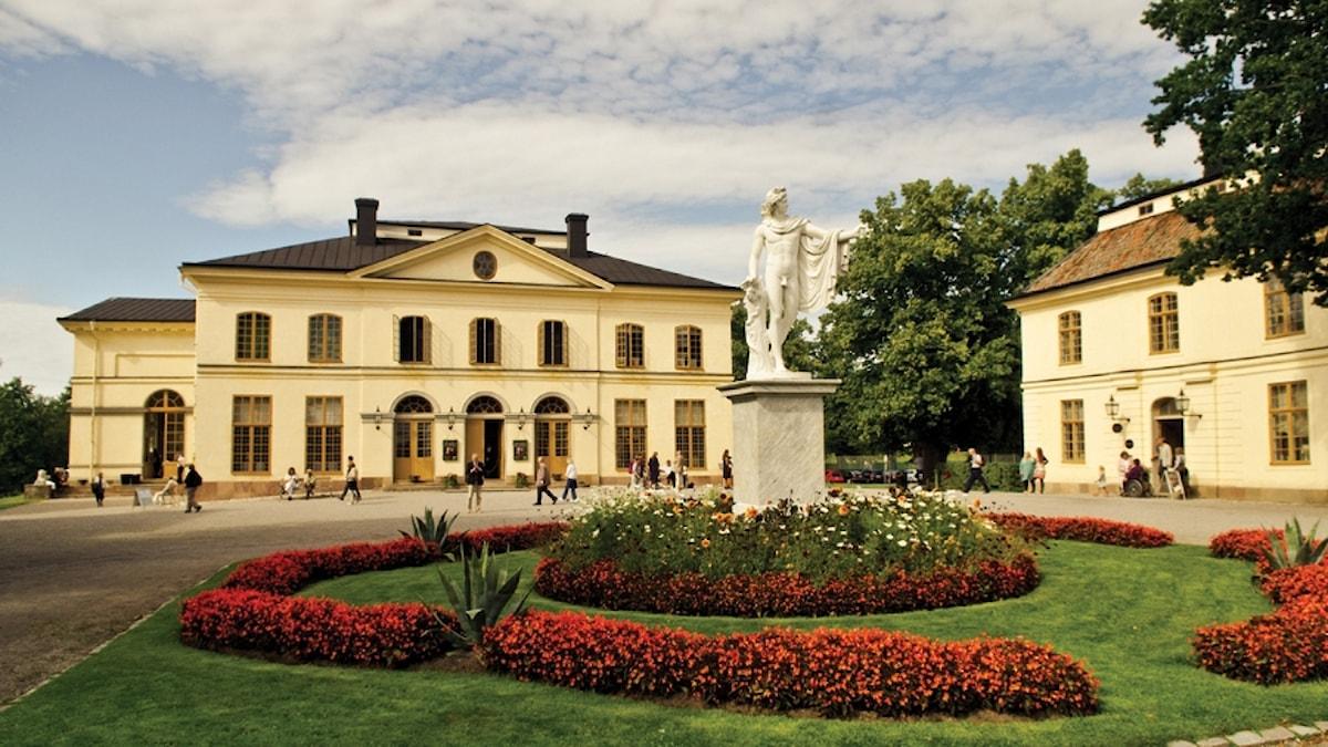 Drottningholms Slottsteater sedd från utsidan.