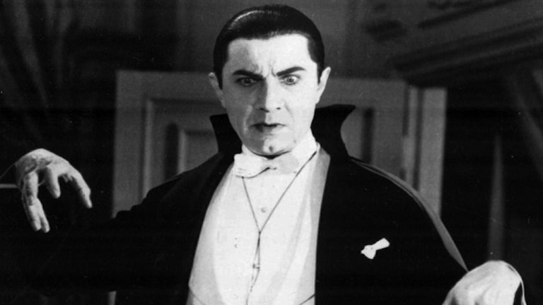 Bela Lugosi som greve Dracula i filmen från 1931.