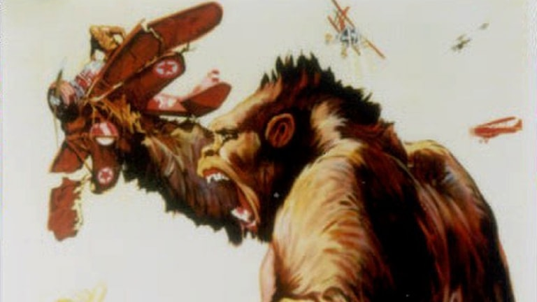 Del av King Kong-affisch från 1933.