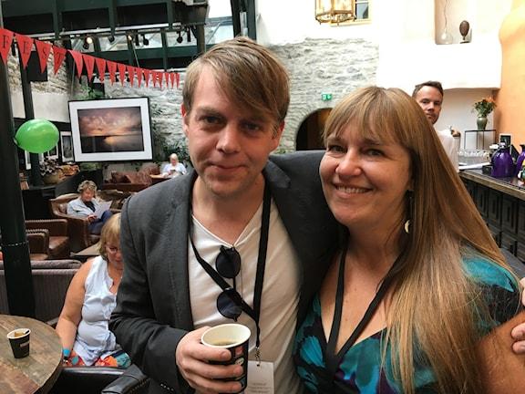 Christoffer Carlsson och Kerstin Bergman Deckarfestival