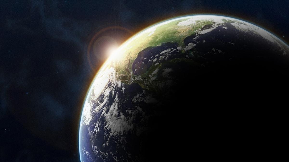 Jorden sedd från rymden.