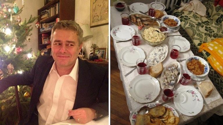 Arthur Sehn och ett polskt julbord.