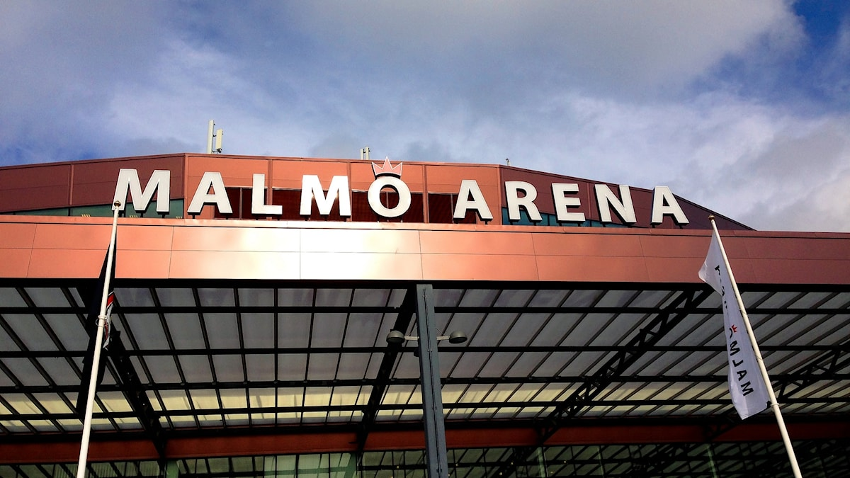 Entré till Malmö Arena.