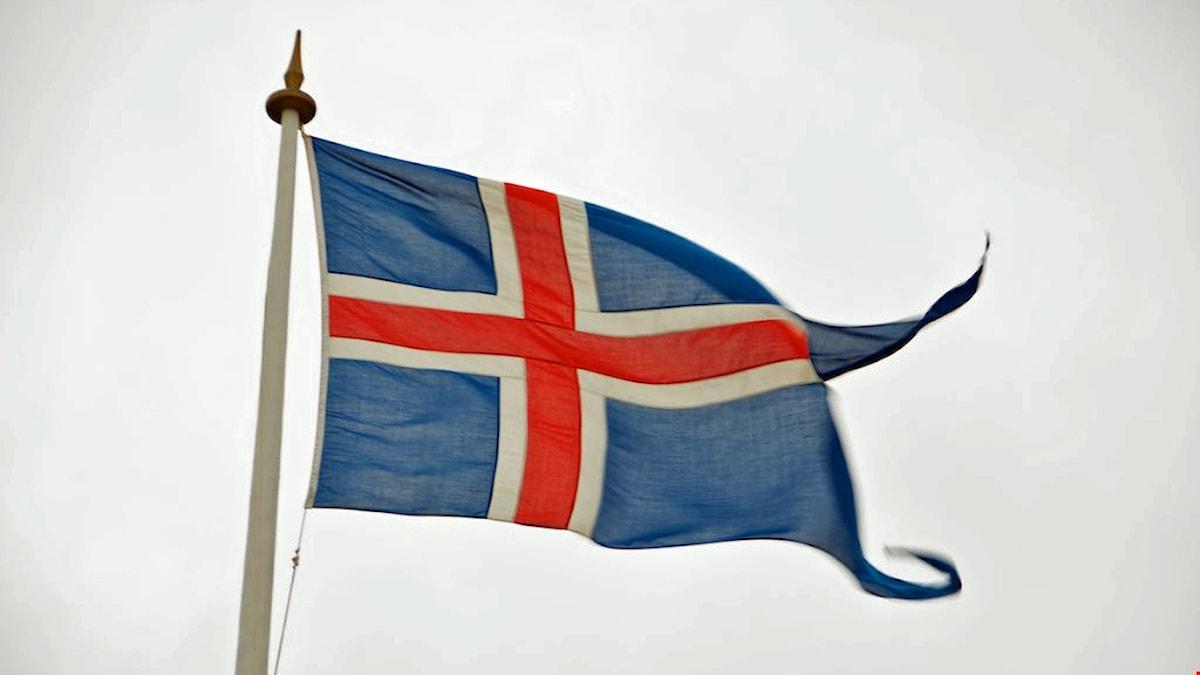 Islands flagga.