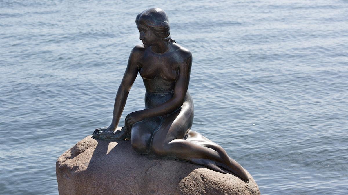 Den lille havfrue/sjöjungfrun i Köpenhamn.
