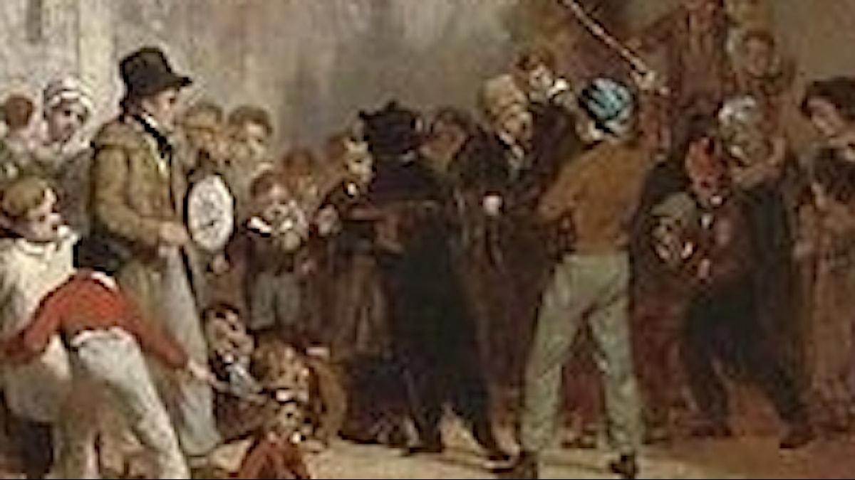 Dansande björn, målning av William Frederick Witherington, beskuren