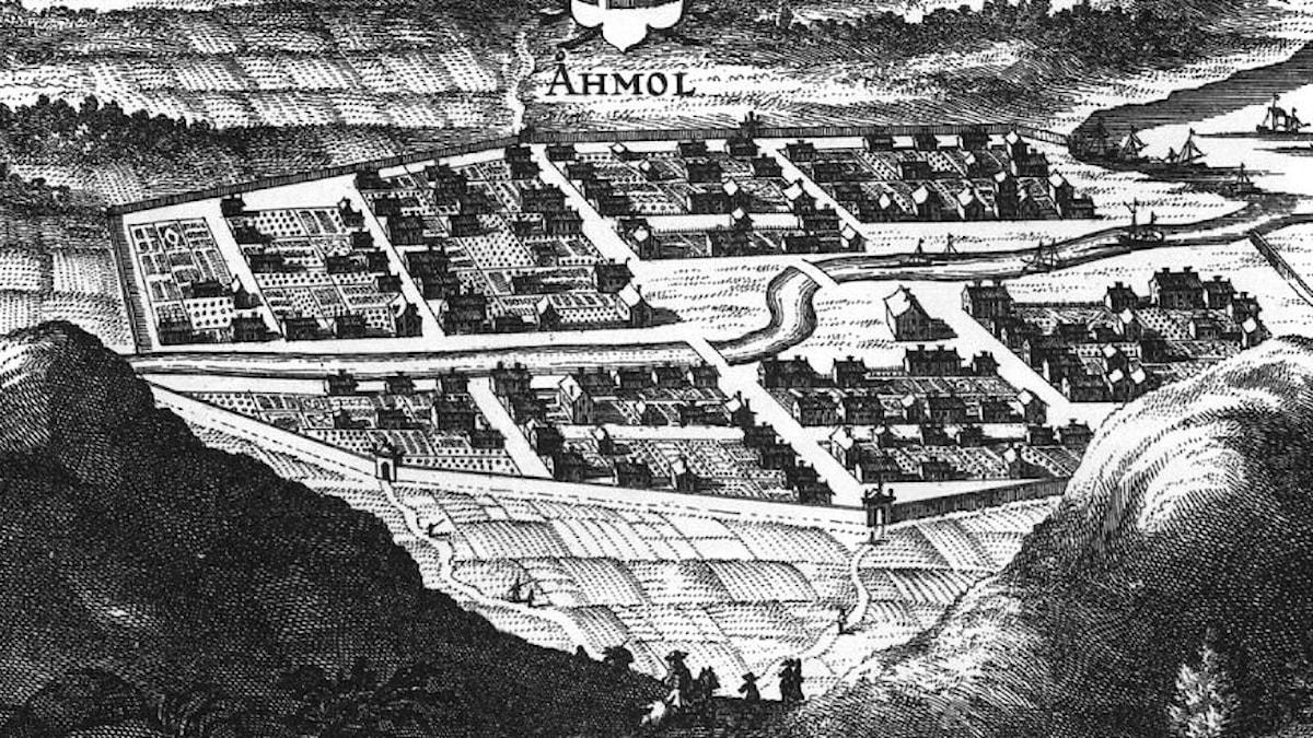 Åmål omkring år 1700