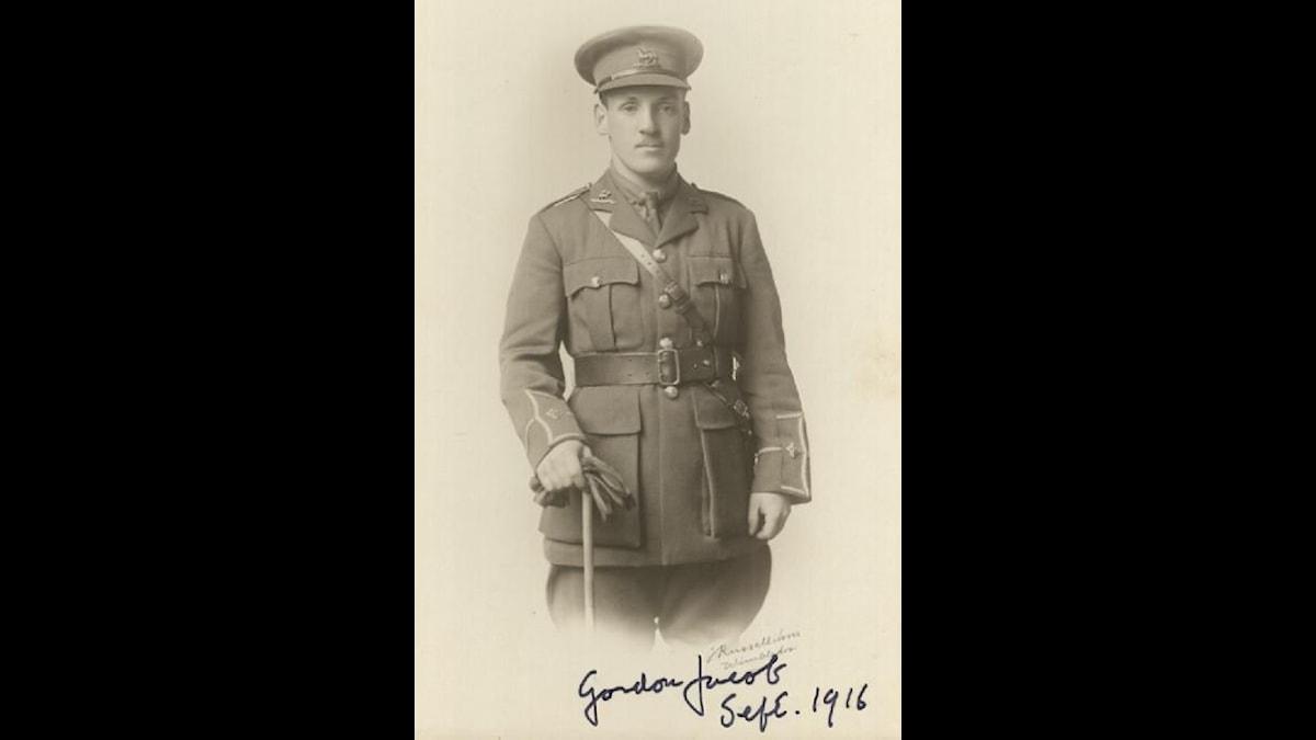 Gordon jacob i uniform redo dra ut i det första världskriget 1916
