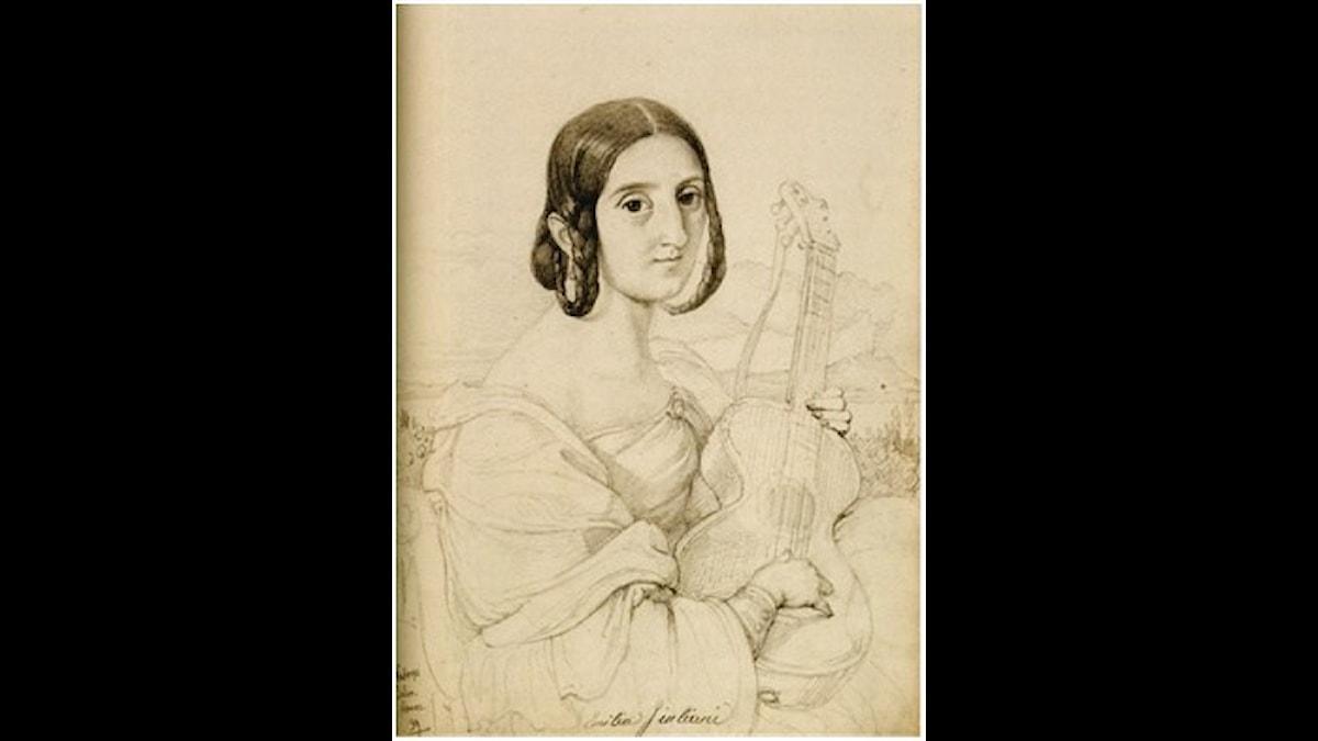 Emilia Giuliani-Guglielmi var skicklig på gitarren.