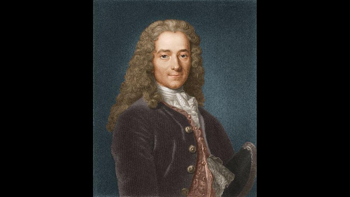 Voltaire skrev satirisk roman som häcklade kyrkan, staten och arbetsmoralen