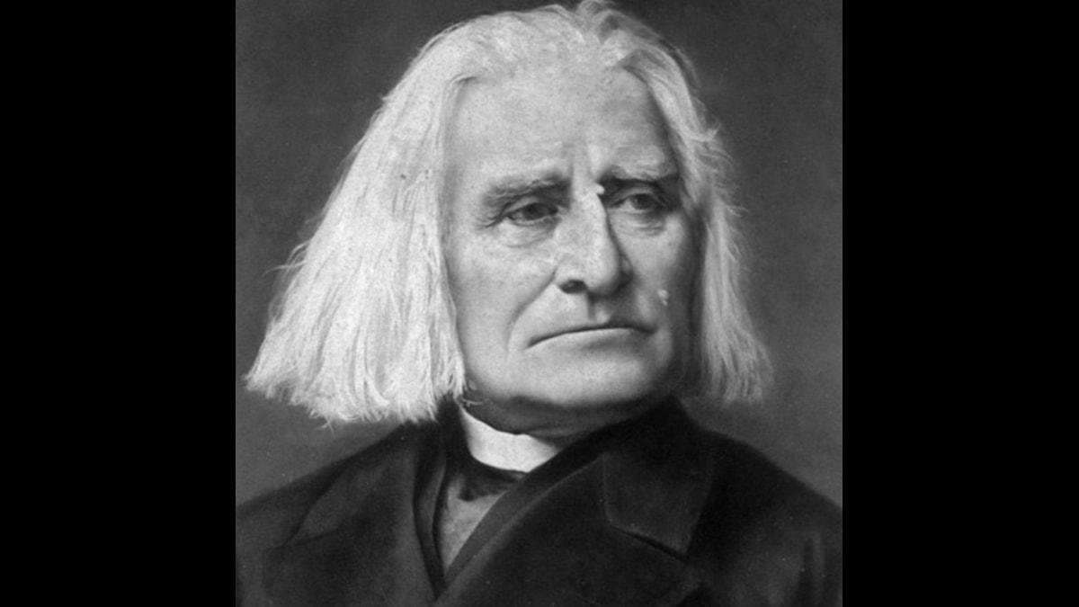 Franz Liszt på äldre dagar