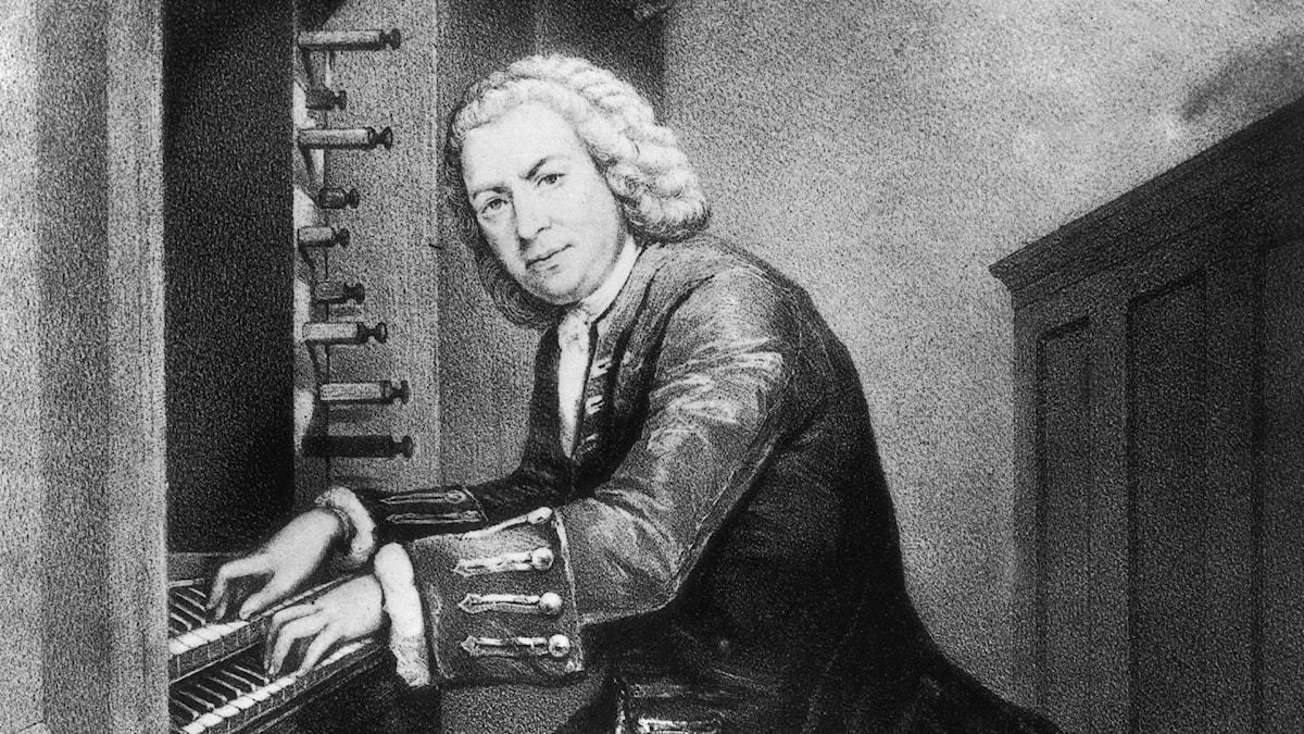 Johann Sebastian Bach vid sin älskade orgel
